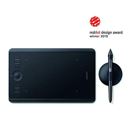 Wacom Intuos Pro (Taille : S) / Petite Tablette à Stylet Professionnelle avec Stylet Wacom Pro Pen 2 et Pointes de Rechange, Design primé, Compatible avec Windows et Appl