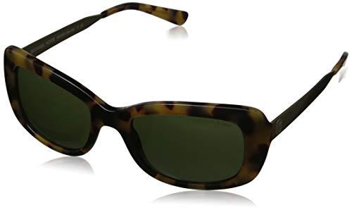 Michael Kors Damen SEVILLE 324471 51 Sonnenbrille, Dark Vintage Tortoise/Green Solid,