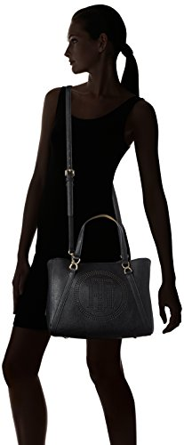 Tommy Hilfiger Fashion Novelty Perf, Sac Femmes, 15x36x33 cm Multicolore (Black / Sand)