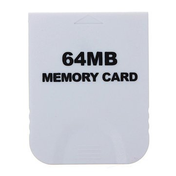 Generic 64 MB Memory Card White For Nintendo Wii & Gamecube