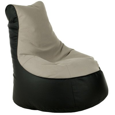 Sitzsack Lotos-Genua Farbe (Lotos): Schwarz, Farbe (Genua): Beige