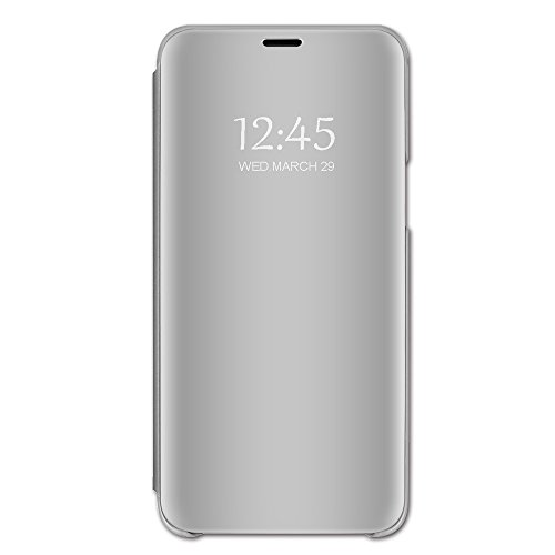 Samsung Galaxy S6 Edge Plus Hülle, Spiegel Schutzhülle PU-Leder Flip Handy Case Tasche mit Standfunktion für Samsung Galaxy S6/S6 Edge (Samsung Galaxy S6, 2) Flip Handys
