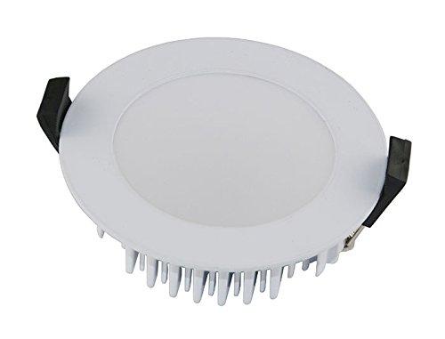 VBLED® Extra Flach, 13W LED Einbaustrahler, IP54 wassergeschützt, dimmbar, 230V, 3000K Warm-Weiß/Decken-Einbauspot/Badleuchte