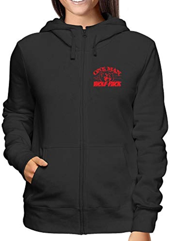 T-Shirtshock Felpa Cappuccio One e Zip Donna Nero TB0031 One Cappuccio Man  Wolf Pack 8b47c9 fd47faaa4d9c