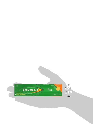 Berocca Energy Vitamin Tablets Orange Flavour, High Dose of Vitamin B Complex, Vitamin B12, Also Contains Vitamin C and Magnesium, 60 Tablets- 2 Months Supply