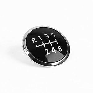 6 Gang Schaltknauf Stick Abdeckung Emblem Abzeichen Cap Trim Cap Abdeckung Auto-Styling Dekorative Kappe Für VW Transporter T5 / T5.1