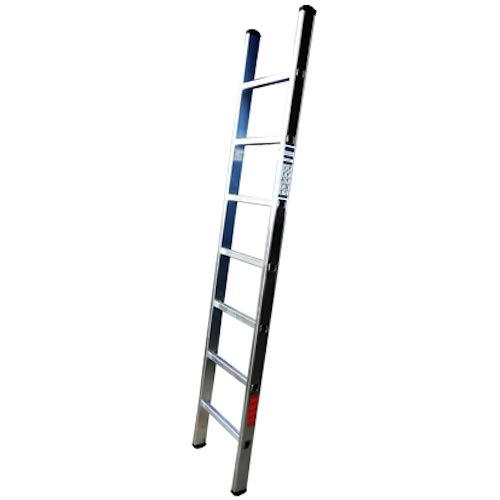 Homelux 825015 Escalera Aluminio Simple, 4 m, 15 Peldaños, 7.5 kg