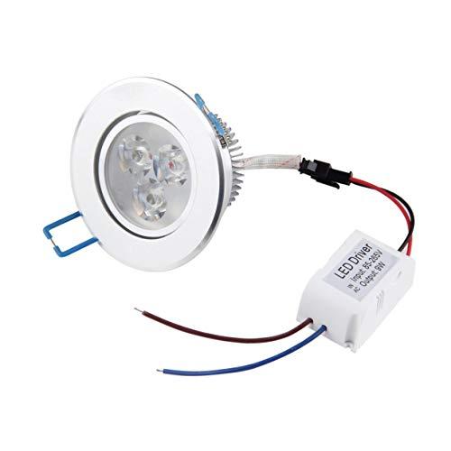 9W LED Strahler Deckeneinbauleuchte unten Lampe Beleuchtung Lampe + Driver Energy-Saving Umweltfreundlich Lange Lebensdauer (warmweiß) -