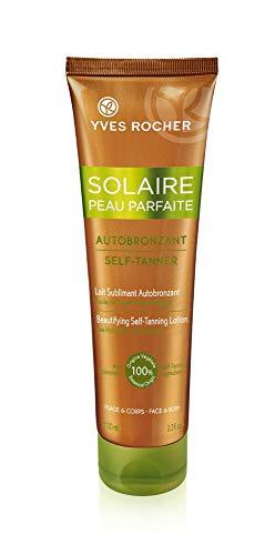 Yves Rocher SOLAIRE PEAU PARFAITE Selbstbräunungs-Milch, Selbstbräuner für Gesicht & Körper, 1 x Tube 100 ml