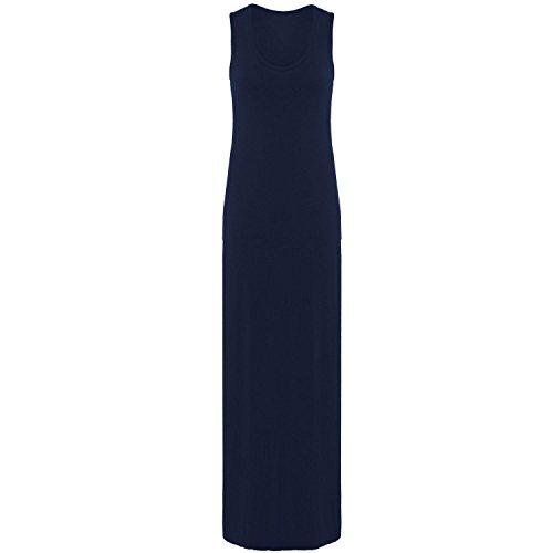 Janisramone donne maglia muscolo racer maxi gilet lungo estate vestito taglia 8-26 Marina