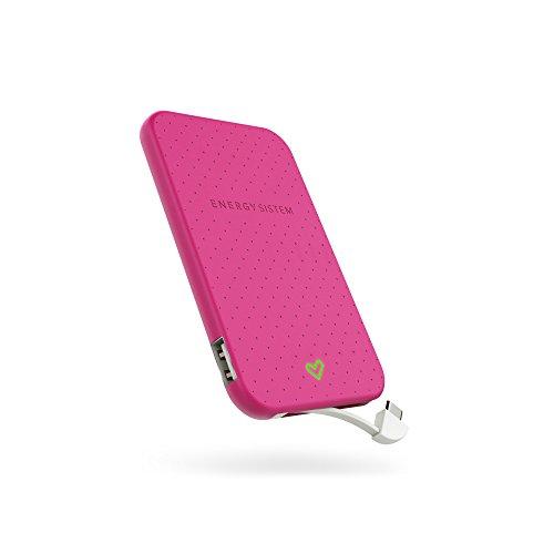 Energy Sistem ENE21424436 - Batería externa de 2500 mAh, color rosa
