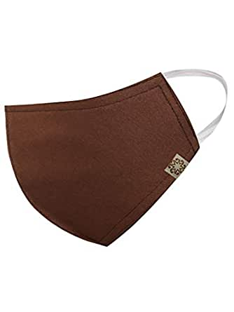 Vastramay Unisex 3 -Ply Solid Reusable Anti-Pollution Comfortable Half Face, Ear Loop Cotton Hosiery Welness Masks