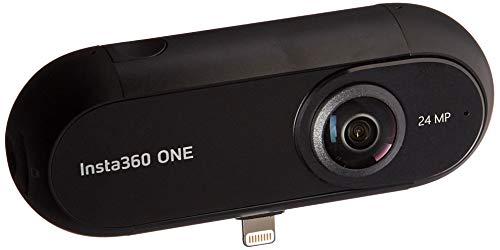Insta360 ONE - Videocámara de Acción 360° con Resolución de Video 4K, Estabilización FlowState, Foto de 24 MP, Bluetooth 4.0, MicroSD, Lightning, Compatible con iPhone X/8/7/6 Plus - Negro