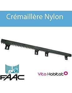 Crémaillère Nylon FAAC 30x20 1m (6 attaches) - 719309002