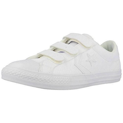 Converse Unisex-Kinder Lifestyle Star Player Ev 3v Ox Sneakers Weiß White 100, 35.5 EU (Sale Converse Kid)