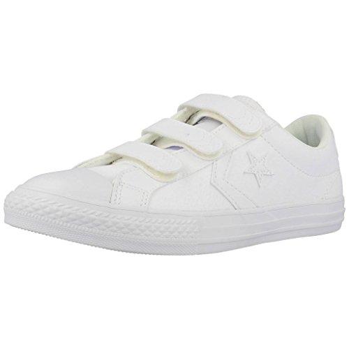 Converse Unisex-Kinder Lifestyle Star Player Ev 3v Ox Sneakers Weiß White 100, 35.5 EU