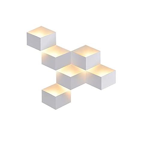 Wall Cube Style Scandinave Mur Du Salon Décoration Lampe Dépoli Simples Étude Moderne Chambres Lumières Passerelle ,