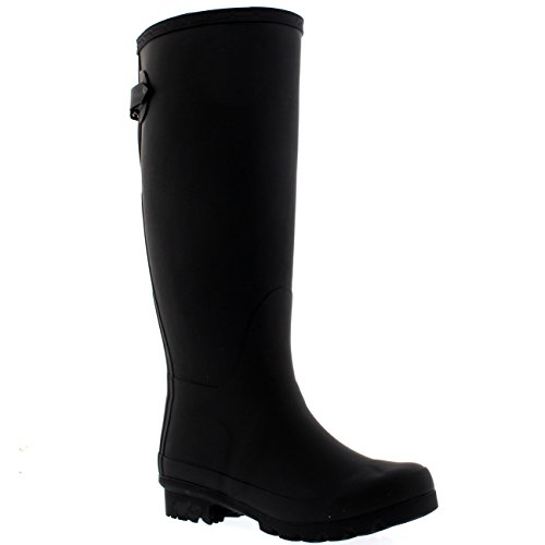 POLAR Womens Adjustable Back Tall Winter Rain Wellies Waterproof Wellington Boot