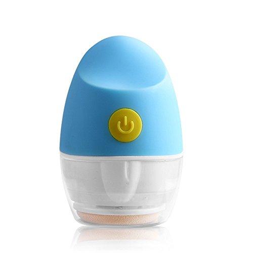 ZLiME Vibreur électrique 4D Powder Puff pour maquillage visage Femmes Filles Outil cosmétique pour soins de la peau (bleu)