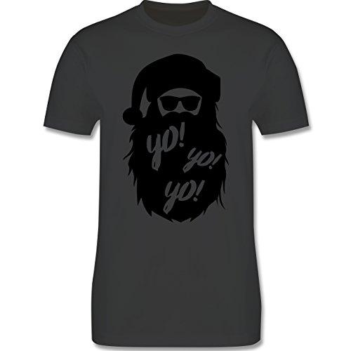 Weihnachten & Silvester - Yo Santa - Herren Premium T-Shirt Dunkelgrau
