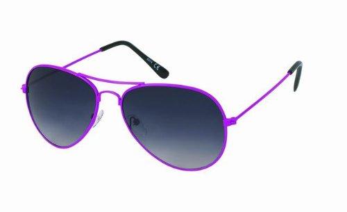 Des lunettes de soleil Chic-net jante or autour Oversize John Lennon teintées 400UV dames rétro glamour gris tI3Lz
