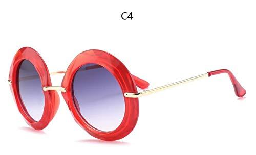 Sonnenbrille Gelber Rahmen Runde Vintage Sonnenbrillen Übergroßen Schwarzen Kreis Gläser Roten Rahmen Designer Frauen Grün Rot Sommer Gläser Uv 400