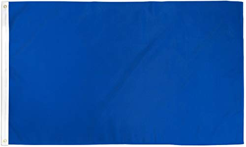 Home and Holiday Flags Royal Blue Flag Solid Color Banner Advertising Pennant Decoration Decor 3x5 New -