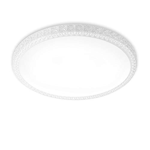 LVWIT Plafoniera LED - 24W Equivalente a 144W, 2040 Lumen, 4000K Colore Bianco Neutro, Non Dimmerabile - 39,5 x 39,5 cm.