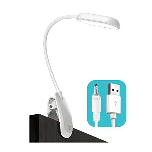 Protection des Yeux Lampe de Lecture à LED Luminosité réglable Pas de lumière Bleue, Pas de fréquence de clignotement Utilisation du Chargement USB