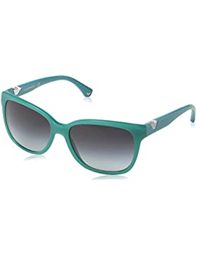 Emporio Armani Unisex-Erwachsene 4038 Sonnenbrille, Schwarz (Opal Aqua Green 52758G), 57