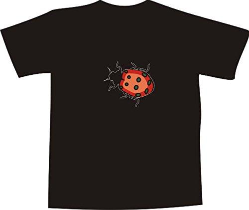 s T-Shirt mit farbigem Brustaufdruck Farbe nach Wahl XXL - Logo / Comic - schöner großer Marienkäfer (Marienkäfer-comic)