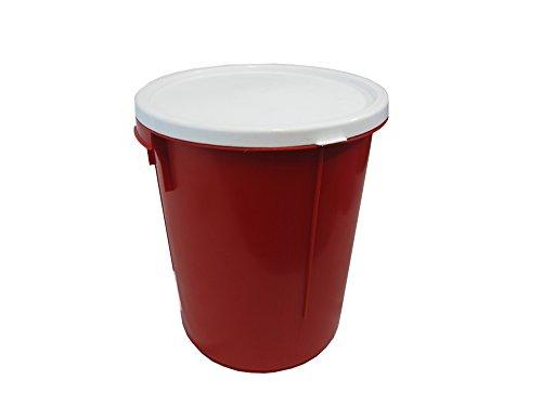 red-25-litre-storage-bucket-with-lockable-lid-nappy-bucket-bucket-food-container-binmade-in-uk