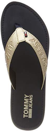 Hilfiger Denim Shiny Metallic Beach Sandal