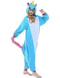 586c48ad1f ABYED® Jumpsuit Tier Karton Fasching Halloween Kostüm Sleepsuit Cosplay  Fleece-Overall Pyjama Schlafanzug Erwachsene