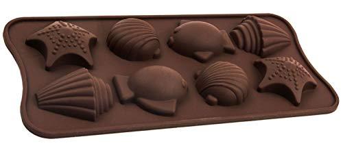 Silikonform mit Meerestieren, Schokolade, Praline, Eiswürfel, Motto–Party, Geschenk-Idee, -