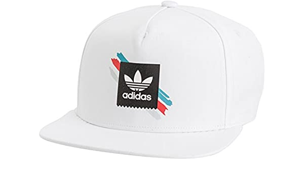 info for c5aa6 0db8d adidas New Men s Courtside Snapback Hat White  Amazon.co.uk  Sports    Outdoors