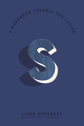 A Monogram Journal for Letter S Lined Notebook: Indigo Blue Watercolor Initial S Monogrammed Notepad | Dark Cobalt Cover (Modern Navy Monogram Journals, Band 91) Cobalt Blue Plain