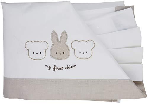 Chicco set lenzuolina + federa carrozzina, sacco nanna unisex-bimbi, (bianco 033), one size (taglia produttore:099)