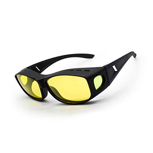 Tongesil Blendschutz HD Nachtsichtbrille-Männer & Frauen, TAC + PC-Material Polarisierte Sonnenbrille-UV-Schutz-Sportbrille