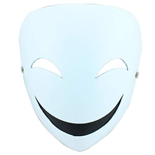Halloween Christmas Mask Dark Kugel Cos Skorpion Schattenmaske Cos Requisiten Clown Smiley Harz Maske Masken (Color : Weiß, Size : 18 * 20CM/7 * 8inch)