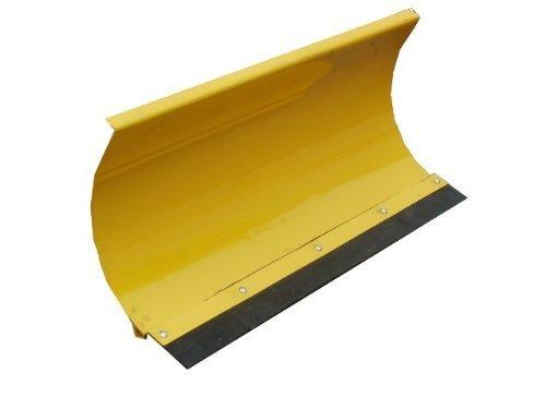 Universal Räumschild Gelb / 175 cm breit + 40 cm hoch / Für Einachser oder Rasentraktor / 3-stufig verstellbar / Inklusive wechselbarer Schürf-Leiste aus Gewebe-Gummi / Schneeschild Schneeschieber Winterdienst Schneeschaufel