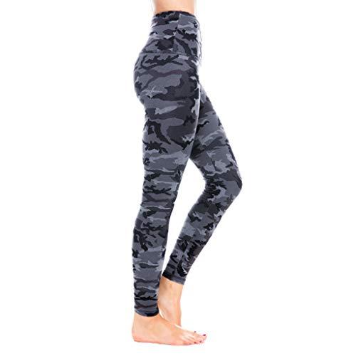 RISTHY Leggins Mujer Deportivos Camuflaje Pantalones Lápiz Cintura Alta Push Up Pantalones Ajustados de Deporte Élastico Ropa de Entrenamiento Profesionales Fitness Yoga Gimnasio Correr