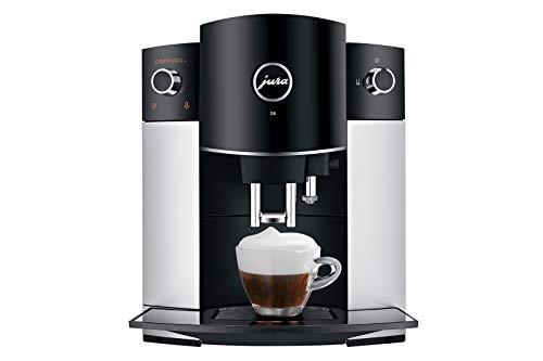 JURA D6 Independiente Máquina espresso Negro, Platino 1,9 L 16 tazas Totalmente automática - Cafetera (Independiente, Máquina espresso, 1,9 L, Molinillo integrado, 1450 W, Negro, Platino)