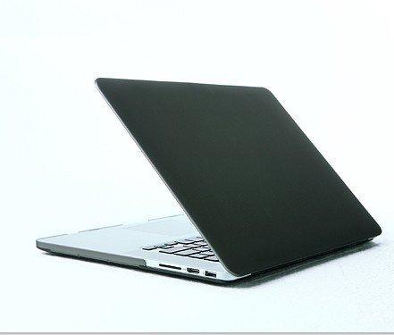 Bingsale® Matt Tasche Case für Apple MacBook Pro Retina 13 Zoll mit Retina Display Model Schutzhülle Etui (ohne Apple Ausschnitt logo) (Farbe: Schwarz, Transparent,Marine Blau, Baby Blau,Rosa, Lila,Rot,Gelb,Grau,Grün) (Schwarz)
