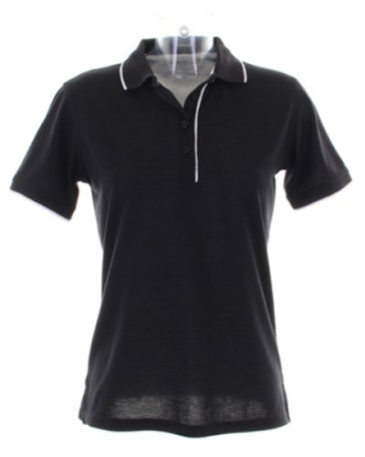 Kustom KitDamen T-Shirt Schwarz - Schwarz / Weiß