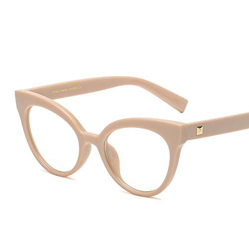 TJJQT Sonnenbrillen Damen-Katzen-optischer Glas-Rahmen-weiblicher Markendesigner Spectacles Luxury Eyeglasses Frame Women Eyewear