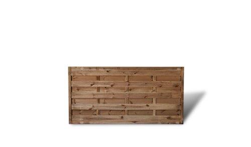 """Günstiger Sichtschutzzaun / Gartenzaun Maße 180 x 90 cm (Breite x Höhe) aus Kiefer/Fichte Holz, druckimprägniert \""""Berlin\"""" Massiv II"""