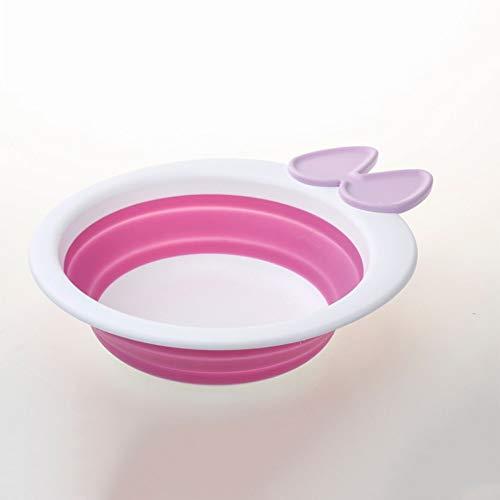 A-YSJ Faltendes Becken Neue Baby-badewanne Infant Kinder Tragbare Klappbecken WaschbeckenKleinkind Mädchen Reise Outdoor Kompakte Nette Krone Dusche Badewanne, 1