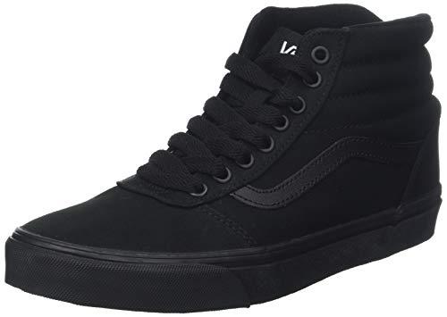 Vans Herren Ward HI Canvas Hohe Sneaker, Schwarz Black 186, 48 EU - Slip Schwarz Vans Schuhe On