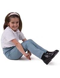 Rhinegold Childs ponerse Jodhpur botas piel marrón, tamaño: 12